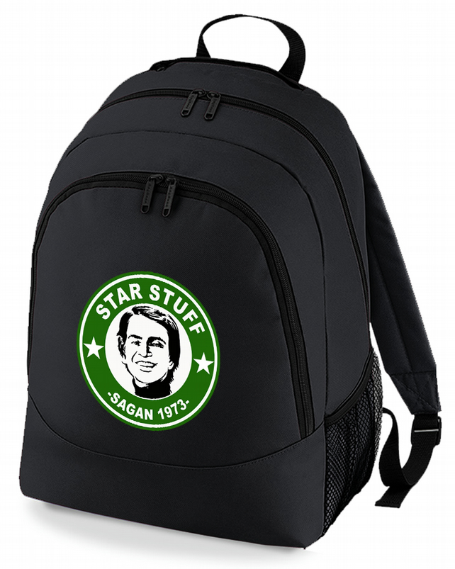 Carl Sagan STAR STUFF- Funny Cosmology  Science Geek backpack  -BPK1671
