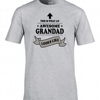 This is What An Awesome Grandad Looks Like- Top Gramps Men's T Shirt MTS1764