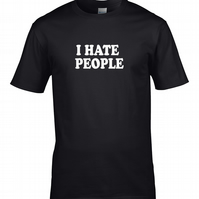 I HATE PEOPLE - offensive, rude, anti-social man, men's t-shirt MTS1824