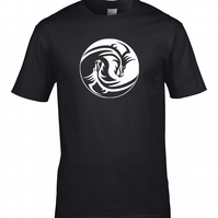 YIN & YANG DRAGONS - Chinese Philosophy Symbol- Men's T-Shirt MTS2067