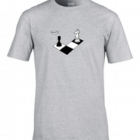 CHECK MATE  funny witty humour chess player mens T Shirt -  MTS1197