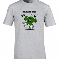 MR GAME RAGE - Gamers, gamepad mr men parody mens T Shirt  MTS1484