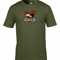 VICTORY GIN - George Orwell 1984 big brother is watching mens T Shirt - MTS1234