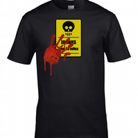 ZOMBIE ROAD SIGN - Walking dead  Halloween Mens T Shirt - MTS1807