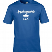 APPLECRUMBLE & FISH 3 - fashion label parody  men's T Shirt - MTS1471