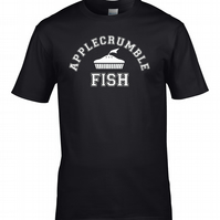 APPLECRUMBLE & FISH 1 - fashion label parody, funny men's T Shirt - MTS1343