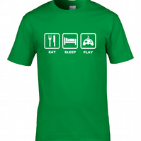 EAT SLEEP PLAY- console arcade gamer, gamepad- Mens T-shirt  - MTS2046