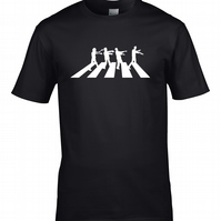 ABBEY ROAD ZOMBIES - Walking dead Beatles parody  Male T-shirt  MTS1450