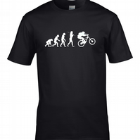 EVOLUTION OF BIKERS- Extreme sports loving Mens T-Shirt - MTS1795