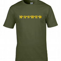 MASHED- Classic TV comedy MASH, silly military men's T Shirt   - MTS1828