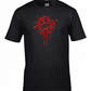 BLOOD SYMBOL OF CHAOS- OCCULT CROSS mens T Shirt   - MTS1968