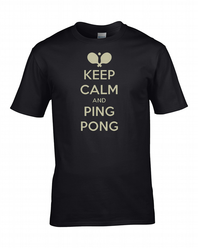 KEEP CALM AND PING PONG- table tennis player funny Men's T-Shirt - MTS1913
