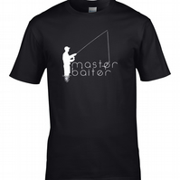 MASTER BAITER- rude, crude fishing Dude-  Men's T-Shirt   - MTS1995