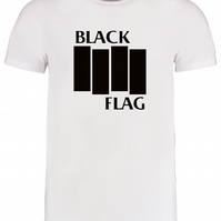 Black Flag- American Hardcore Punk Rock Band Logo Men' Men's T-Shirt - MTSUB8068