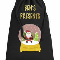 Giant XLarge Personalised Santa Globe Christmas Present Sack Dimensions: 49x75