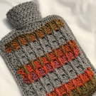 Squishy hot water bottle cover