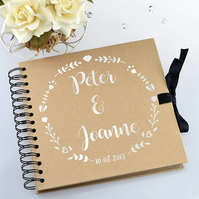 Personalised Wedding Guestbook or Scrapbook Polaroid Photo Album Guest Book