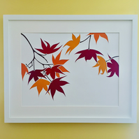 "Japanese Maple ""Acer"" Paper Cut Art"