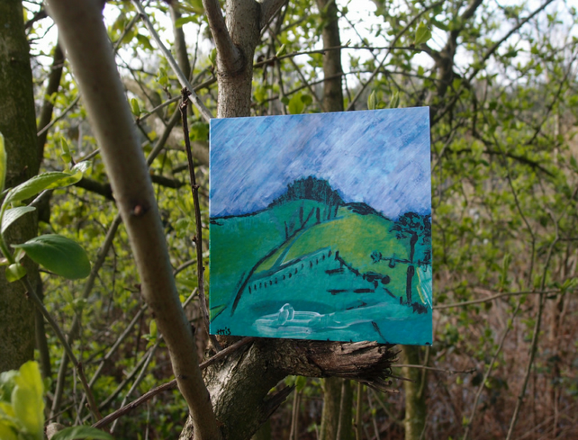 View from Pyecombe greetings card