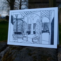 Garden at Keats House greetings card