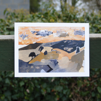 View from Corbridge greetings card