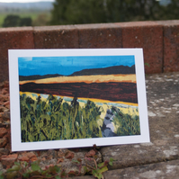 View from Grinkle Park greetings card