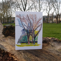 Union Chapel from Highbury Fields greeting card