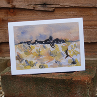 View from Prospect Cottage greetings card
