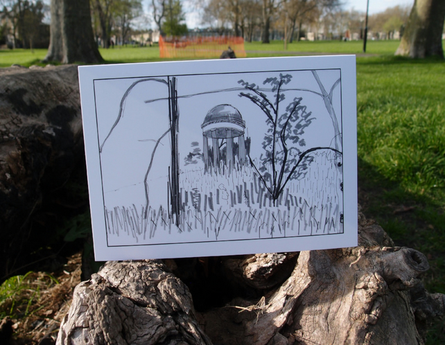 The Temple of Aeolus, Kew Gardens greetings card