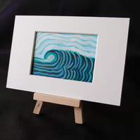 Watching the surf, Sunshine coast ACEO