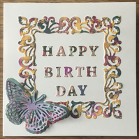 Contemporary Birthday card - Assorted colours