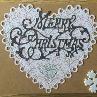Hand-crafted Christmas card - Assorted colours