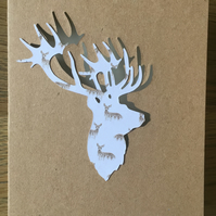 Hand-crafted Christmas card