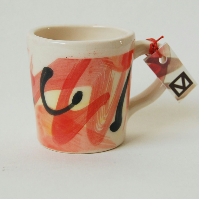 Small ceramic mug for tea or coffee, Ceramic mug for children