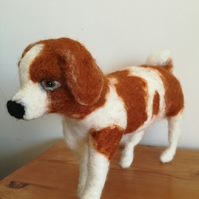 Needle felted puppy dog needle felted wool sculpture, collectable OOAK artist so