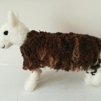Herdwick Sheep, needle felted wool, model