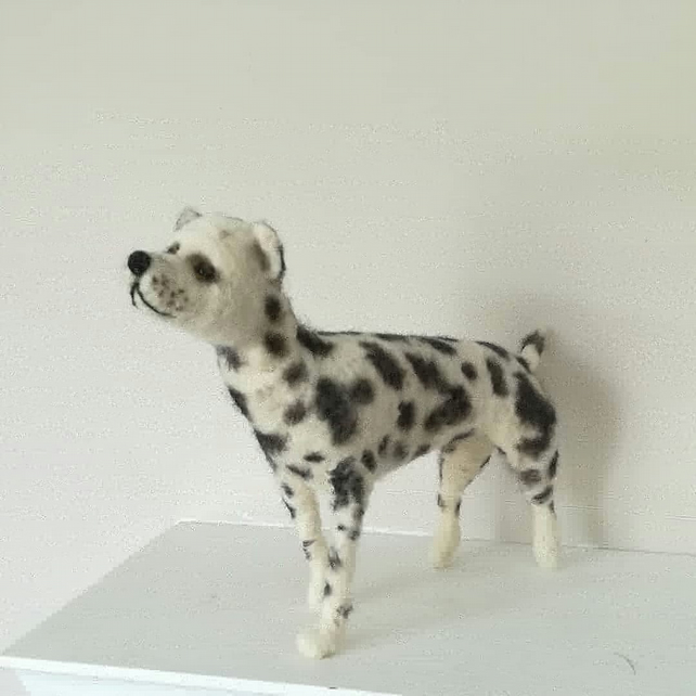 Doug the Dalmatian dog. Needle felted wool sculpture collectable collectables OO