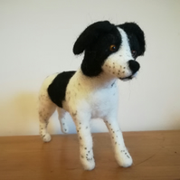Spaniel dog sculpture needle felted wool, OOAK, collectable