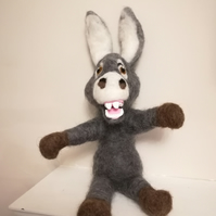 DONKEY humorous character needle felted wool sculpture collectable collectables