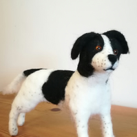 Susie the Springer Spaniel dog needle felted wool sculpture collectable OOAK