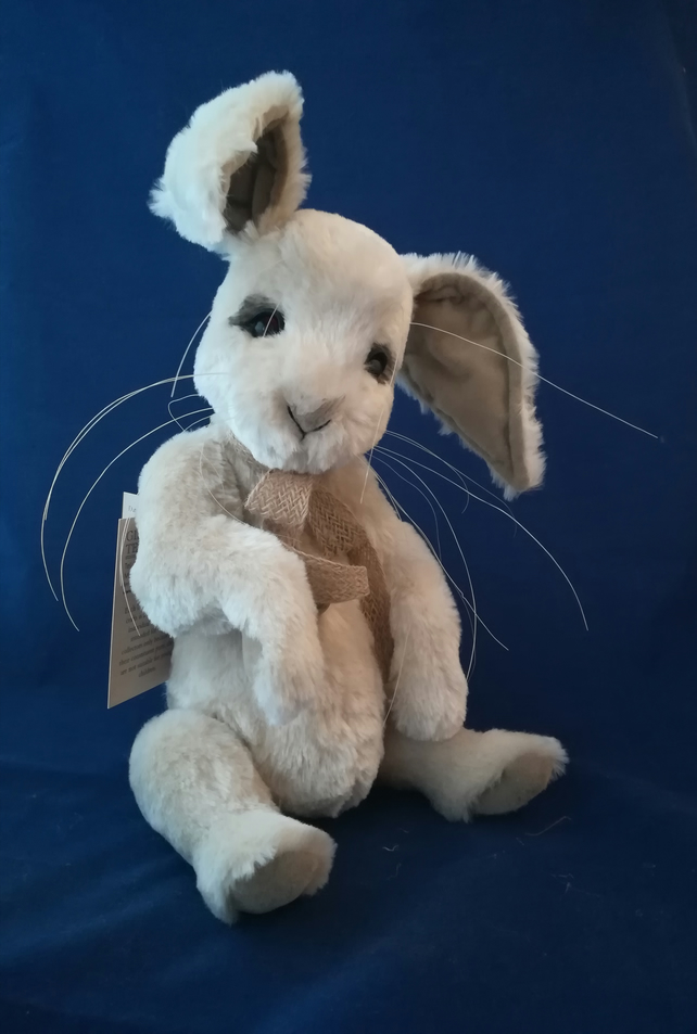 Polly, artist Teddy Bear rabbit bunny faux fur jointed poseable