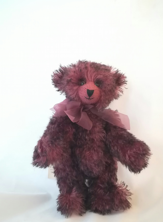 Ruby teddy bear handmade artist poseable Steiff schulte mohair fabric jointed OO