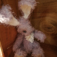Minature artist bunny Rabbit character handmade OOAK collectable