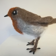 Robin, needle felted, wool, collectables, OOAK, felting, needle felting, Christm