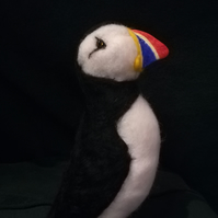 Puffin, bird, collectable, collectables, OOAK, gifts, needle felting, fibre art,