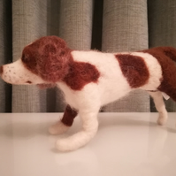 Springer Spaniel,dog, needle felted wool sculpture