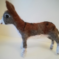 Donkey needle felted wool sculpture gift collectables OOAK