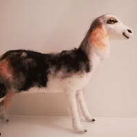 Nubian Goat needle felted wool sculpture OOAK collectable