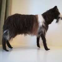 Old English Goat needle felted wool sculpture