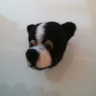 Border Collie puppy dog brooch